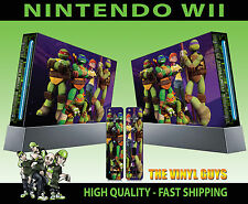 NINTENDO WII STICKER NICK TOON TEENAGE MUTANT NINJA TURTLES TMNT SKIN & PAD SKIN