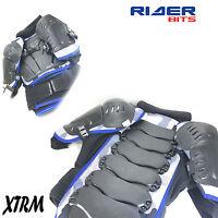 XTRM MX ADULT HALF SLEEVE BLUE BODY ARMOUR WARRIOR JACKET MOTORBIKE PROTECTION