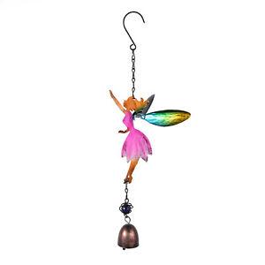 Rainbow Crystal Angel Wind Bell Car Charm Pendant Hanging Decor