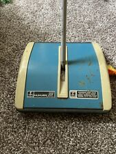 Vintage Hoky Hukuba 23T Blue Carpet Floor Sweeper Push Vacuum Restaurant Home