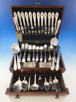 Pointed Antique by R&B D&H Sterling Silver Flatware Set 12 Service 90 Pcs Dinner