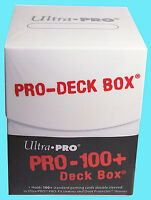 ULTRA PRO Deck Box PRO-100+ WHITE & divider NEW Sealed card standard small 82885
