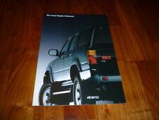 Toyota 4 Runner Prospekt 01/1991