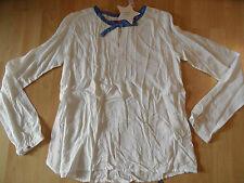 BENGH schöne Tunika weiß m. blauer Schleife Gr. 170/176  NEU 516