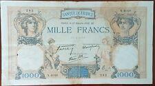 Billet de 1000 francs CÉRÈS et MERCURE 13 octobre 1938 FRANCE N.4049