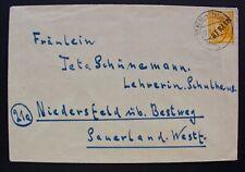 Berlin 1949 - Mi.Nr. 10 EF Brief Berlin-Niedersfeld - gestempelt Berlin-Spandau