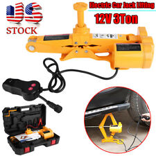 12V 3 Ton Automotive Electric Scissor Car Jack Lifting 1/2