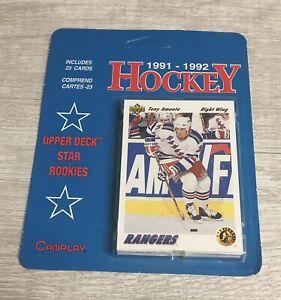 Vintage Upper Deck Canplay 1991-92 NHL Hockey Star Rookies Lot Hanger Pack Set