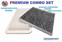 Combo Set Engine and Carbonized Cabin Air filter for Toyota Corolla & Matrix