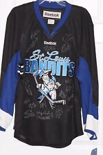 St Louis Bandits Reebok Autographed Jersey 2010-11 Season Adult Large New w Tag
