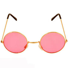 fd1bfcd42b5 PINK Ozzy Hippie Hippy 60s 1970s Round Lennon Specs Fancy Dress Costume  Glasses