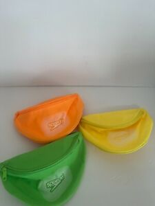 Speedo Fanny Pack Neon Green Yellow Orange Waist Pouch Belt Bag