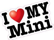 I love Heart My Mini Printed Vinyl Sticker Decal Car Cooper BMW Clubman S