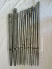 Lot 13 Antique Metal Pipes from Old Church Pipe Organ Musical Instrument 23-29""