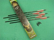 "Barnett 20"" Headhunter Carbon Crossbow Arrows with Field Points 5 Pack 16075"