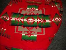 Pendleton Wool Blanket Queen Red Green  Blanket Beaver State Chief Joseph