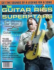 Carlos Santana, Alex Lifeson, Jimmy Page, Prince, Guitar Rigs Player Magazine