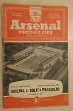 1955/56 League Division One: ARSENAL v BOLTON WANDERERS