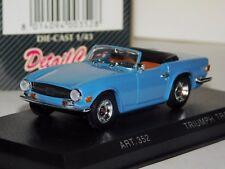 TRIUMPH TR6 1969 SPIDER LIGHT BLUE CABRIO DETAIL CARS ART 352 1/43