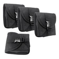 4Pcs Scuba Diving Spare Weight Belt Pocket -Strong & Durable 14 x 12cm Black