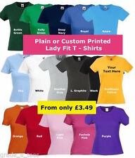Fruit of the Loom Crew Neck Personalised T-Shirts for Women | eBay