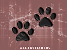 3D Sticker Decal Resin Domed Paws Adhesive Decal  Black