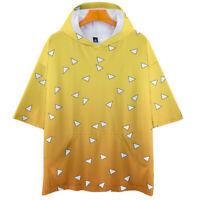 Demon Slayer Kimetsu no Yaiba Cosplay T-shirt Men Women Summer Hooded T-Shirt