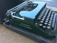 Rare! Forest Green Sleek Antique Silent Smith Corona Typewriter Floating Shift