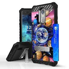 For LG Aristo 2 Plus / Fortune 2 Tri Shield Hybrid Kickstand Case Galaxy Planets
