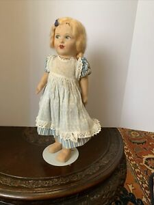 """15.5"""" Chad Valley Child Doll Marked Feet Redressed Suitably Very Sweet."""