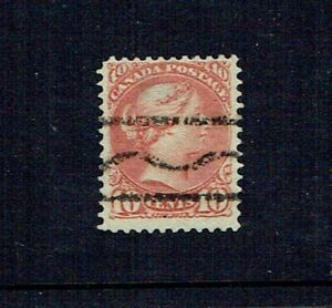 1894 CANADA QV REDDISH BROWN 10 CENT. USED. SG112. GOOD MARGINS. SEE SCANS