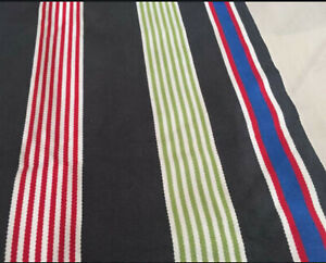 IKEA Bislev Large Area RUG MAT Striped Red Gray White Blue REVERSIBLE Flatwoven
