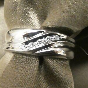 Platinum Round Brilliant Diamonds Men's Ring Band 0.10 Ct's F VS