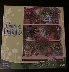 """Garden Delights Mega Puzzles """"Flower Cupboard"""" 750 piece puzzle"""