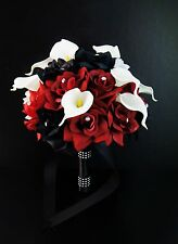 Wedding package-Includes Real touch Calla lily rose bouquets boutonnieres