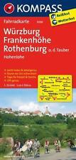KOMPASS 3098 Fahrradkarte Würzburg - Frankenhöhe - Rothenburg 1:50 000 UNBENUTZT
