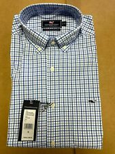 1 NWT VINEYARD VINES MEN'S LS SHIRT, SIZE: SMALL, COLOR: JAKE BLUE CHECK (STZ3)