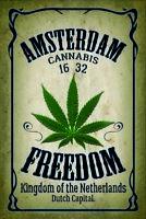 Cannabis Amsterdam Blechschild Schild gewölbt Metal Tin Sign 20 x 30 cm CC1067