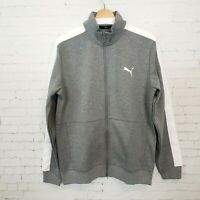 Puma Mens Full Zip Track Jacket Size M Gray Athletic Athleisure Warm Up NEW
