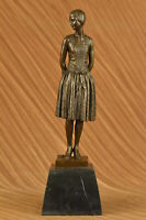Handcrafted bronze sculpture Home Base Marble Housewife Mom Original Signed Sale