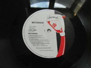 MOTORHEAD-1st UK PRESS-CHISWICK CWK 3008-A1B1-DEBUT VINYL ALBUM-1977- NO COVER!