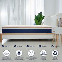 BedStory Bed topper mattress 3 Inch QUEEN-size Lavender Memory-foam Bedroom Gel