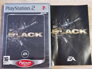 BLACK SONY PS2 PLAYSTATION 2 SLIM