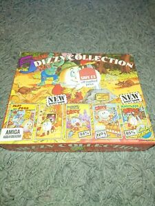 Commodore Amiga Dizzy Collection Box and instructions Only **No Game**