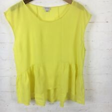 Witchery Sz XL Yellow Loose Fit Peplum Top EUC