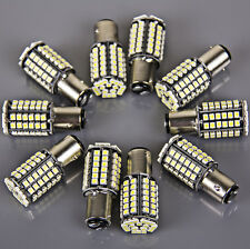 10 Super Bright 80SMD BAY15D 1157 Xenon White Tail Stop Brake Light LED Bulb 12v