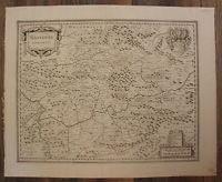 """Kupferstichkarte Jansson """"Nassovia Comitatus"""" um 1650 Rheinland Geografie sf"""
