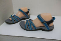 WOMENS TEVA TIRRA BLUE GRAY SPIDER RUBBER HIKING SANDALS SHOES SZ 9