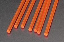 Plastruct 1/8 Red Fluorescent Acrylic Rods (7) 90273 x