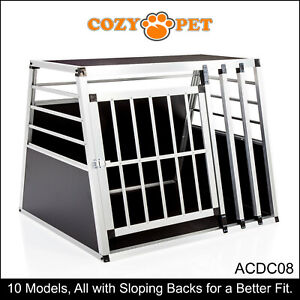 Aluminium Car Dog Cage Cozy Pet Travel Puppy Crate Pet Carrier Transport ACDC08